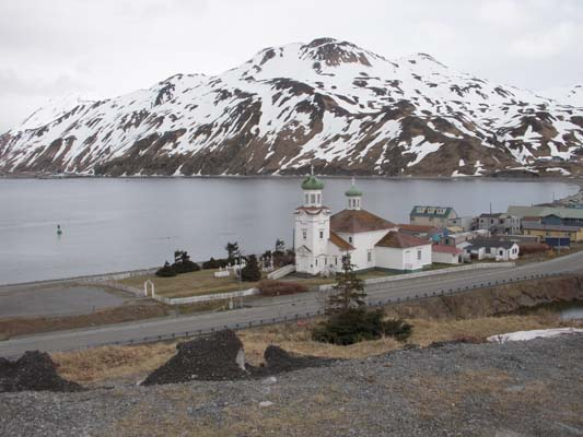 Dutch Harbor Church and Waterfront