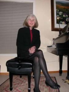 Karen Shepard, accompanist for most recitals