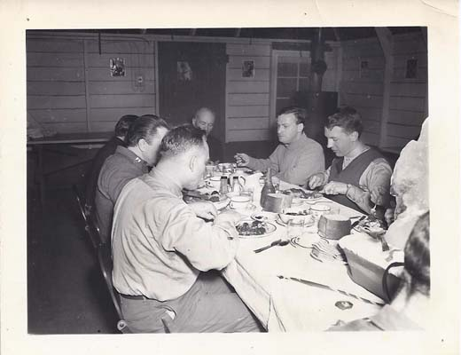 Menuhin at the dinner table in Shemya