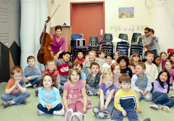 Deb with Unalaska Children