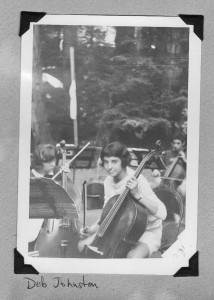 Deborah Ann Johnston in her early teens at Cazadero Music Camp